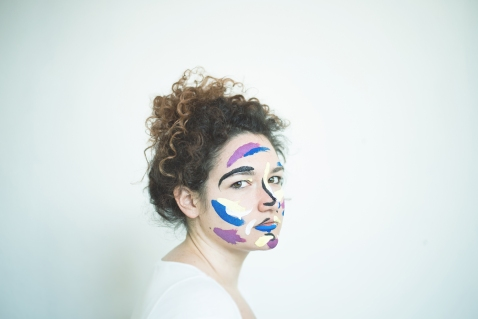 Federica, Face painting project with Elena Ballini, 2017