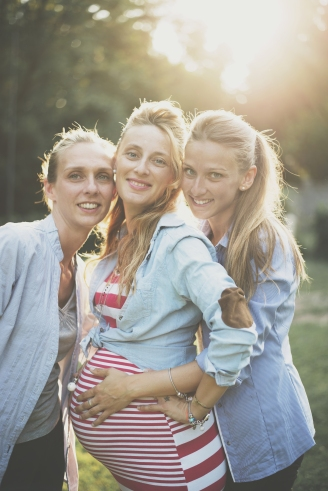 Federica, Silvia & Chiara aspettando Sole Beatrice, 2017